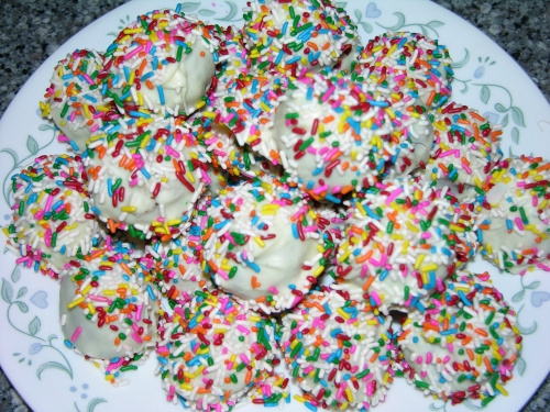 Sprinkle cake balls