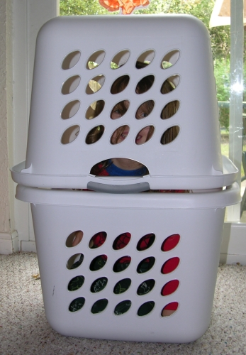 Peo In Laundry Baskets