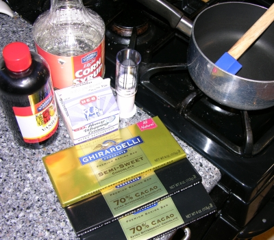 Ugly Cake Balls 3 - Ganache Ingredients