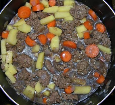 Hearty Skillet Supper - Uncooked
