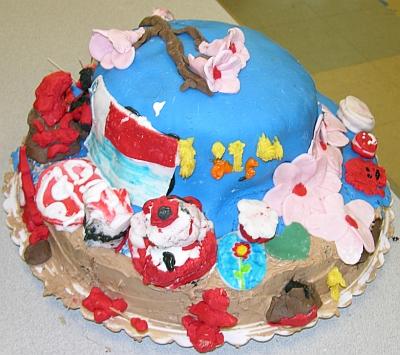 Cherry Blossom Cake 3