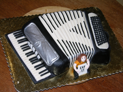 Weird Al accordion cake