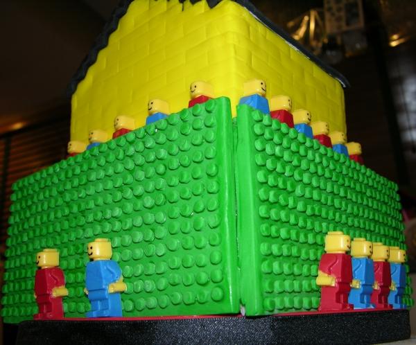 Lego Cake - Corner From Beneath