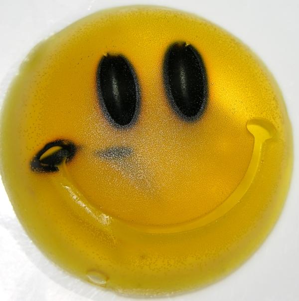 Edible Ink Bleeding Through Gummy Smiley Face