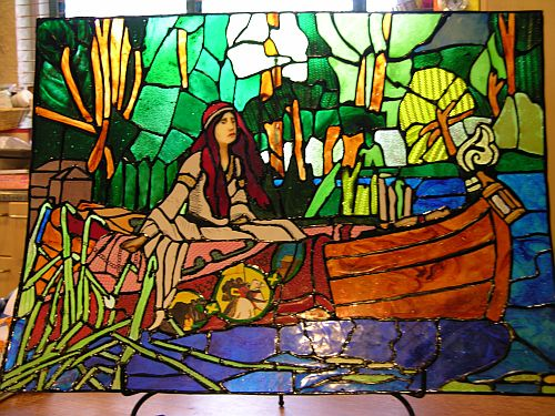 The Lady of Shalott in Flexible, Edible Stained Glass