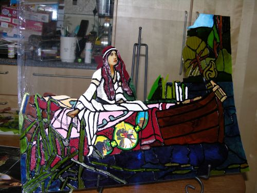 Partial Lady of Shalott in Flexible, Edible Stained Glass