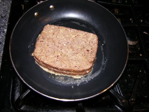 Frying sandwich