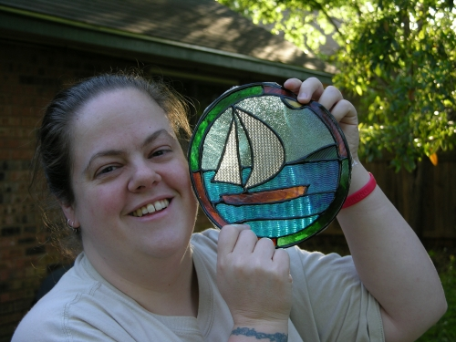 Me with stained glass gummy