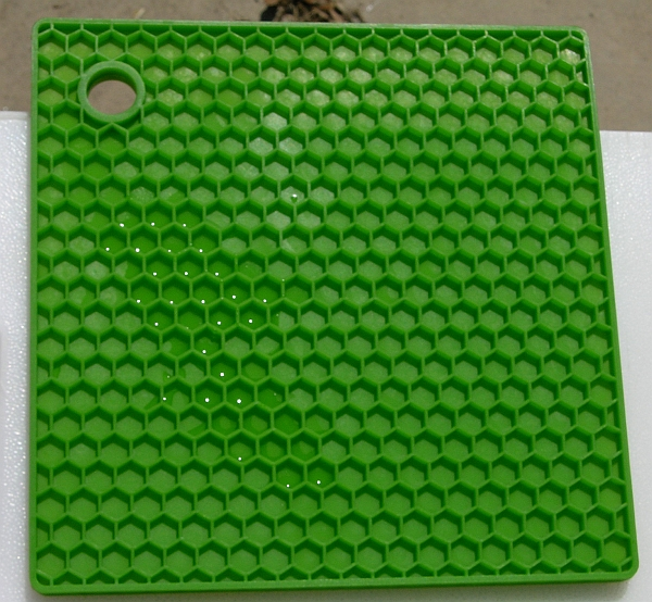 Green silicone hex mat