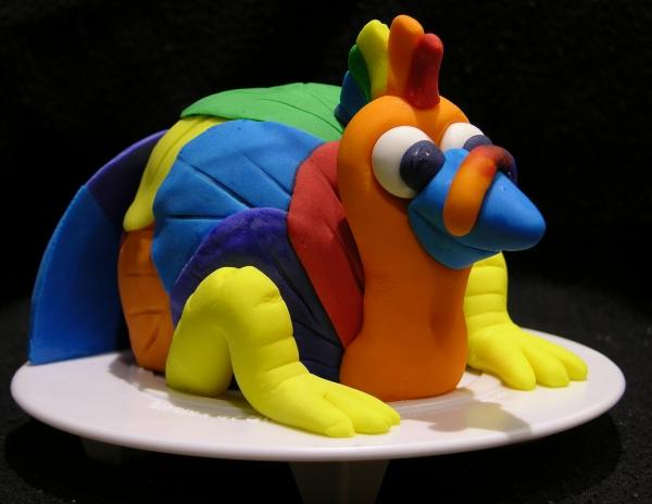 Rainbow Turkey Cake 1