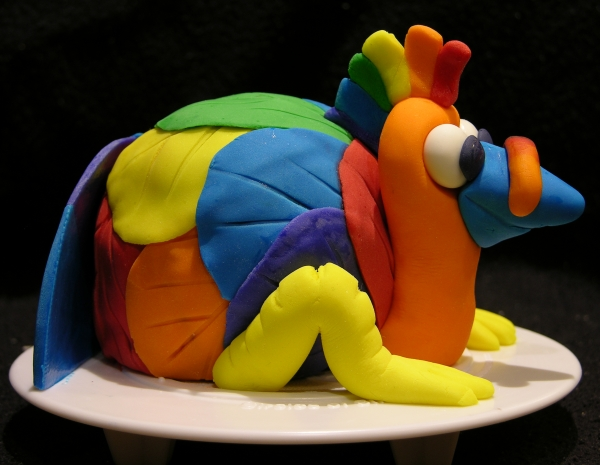 Rainbow Turkey Cake 2