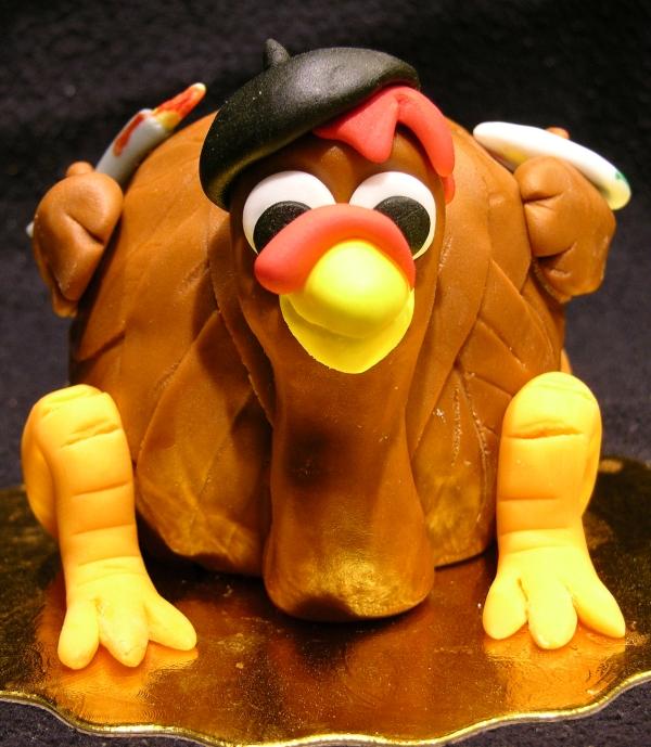 Turkey Artist Cake - Front