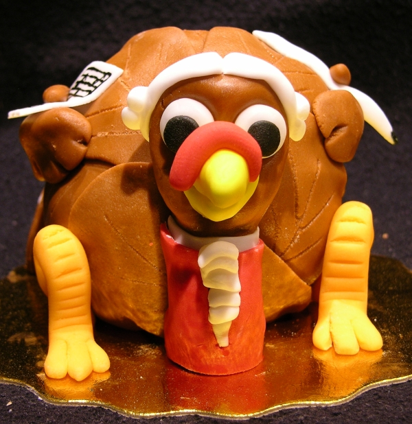 Composer Turkey Cake - Front