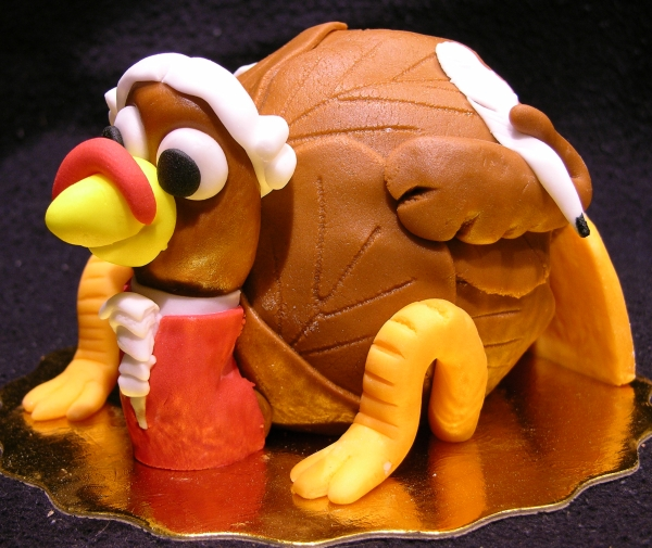 Composer Turkey Cake - Quill Side