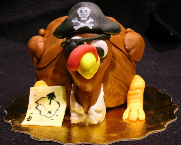 Pirate Turkey Cake