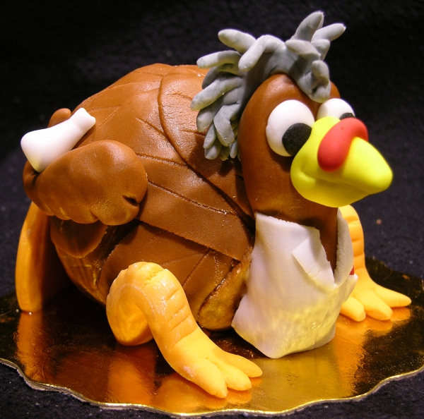 Turkey Scientist Cake - Side