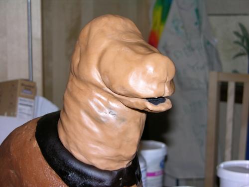 Dog Cake - In Progress - Modelling Chocolate 3