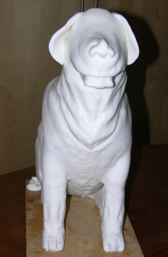 Dog Cake - In Progress - Fondant Covered 2