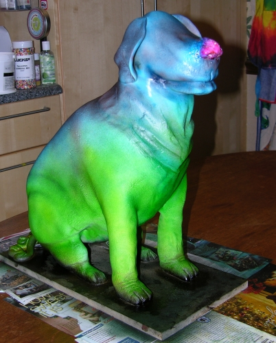 Dog Cake - In Progress - Airbrushed 1