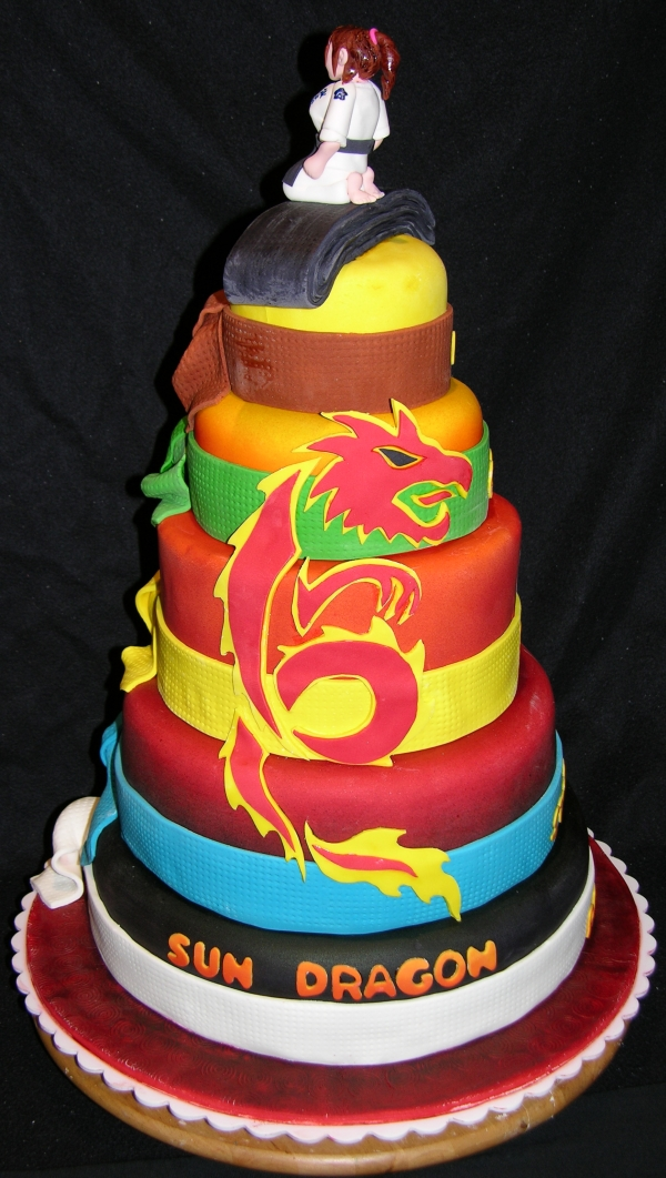 Full cake - Sun Dragon logo