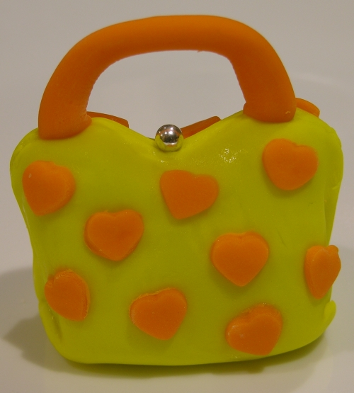 orange heart purse