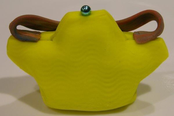 yellow wide purse