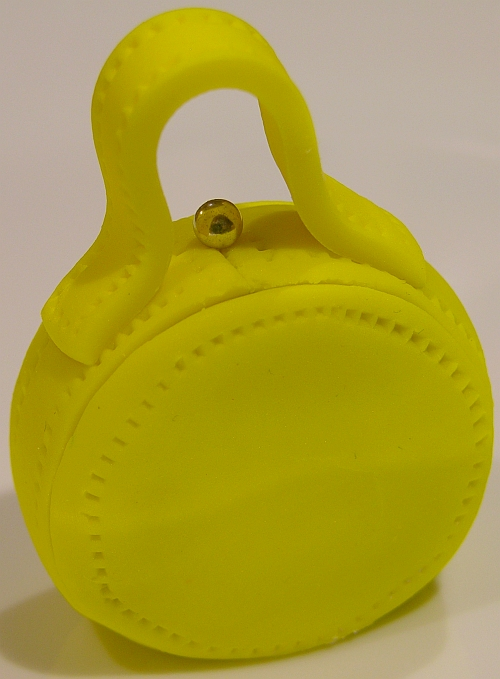 yellow circle purse