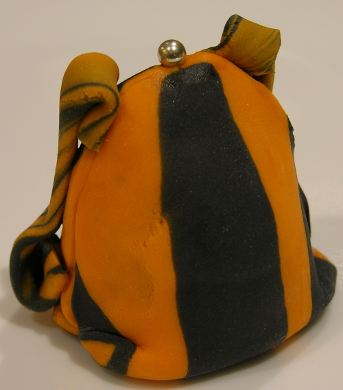 orange and black backpack