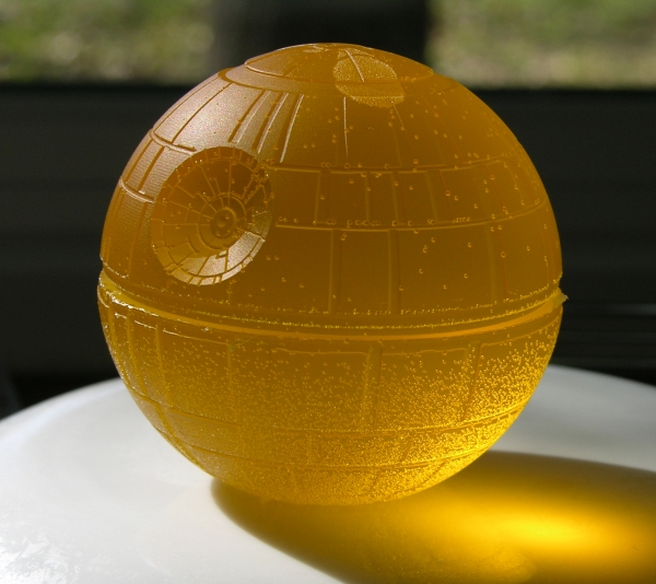 Death Star in yellow gummy