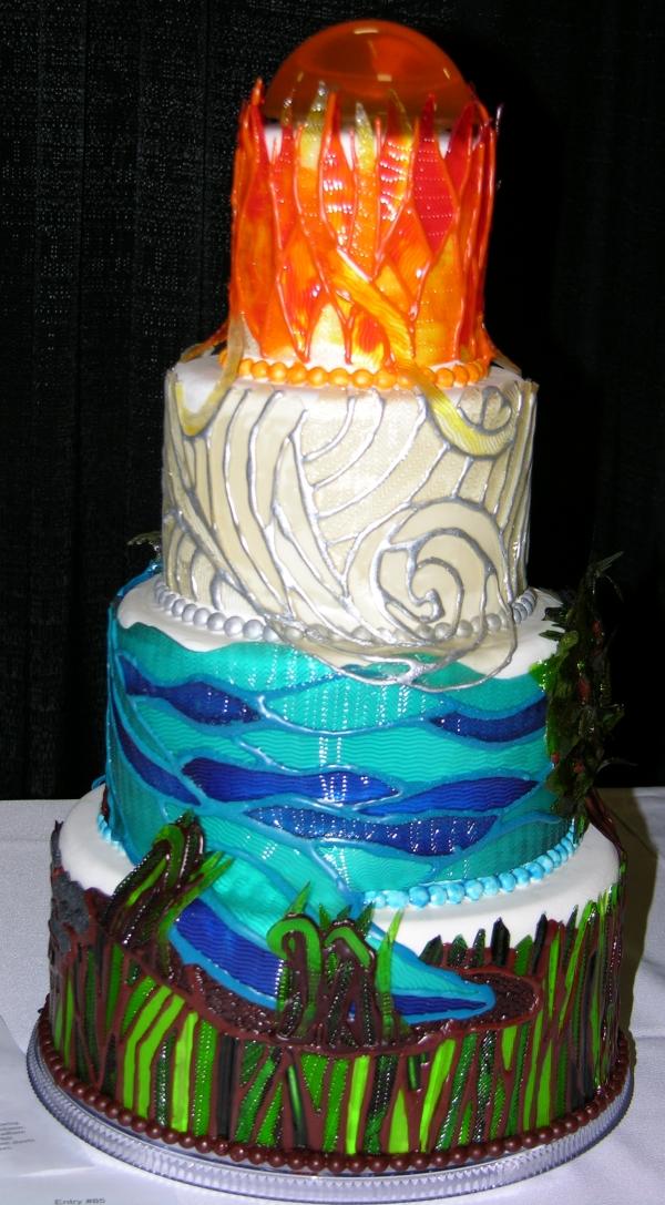 Elemental gummy cake view 1