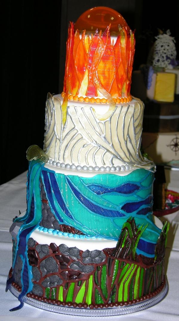 Elemental Gummy cake view 3