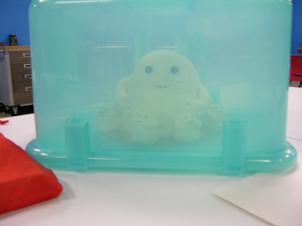 Adipose cake in carrier