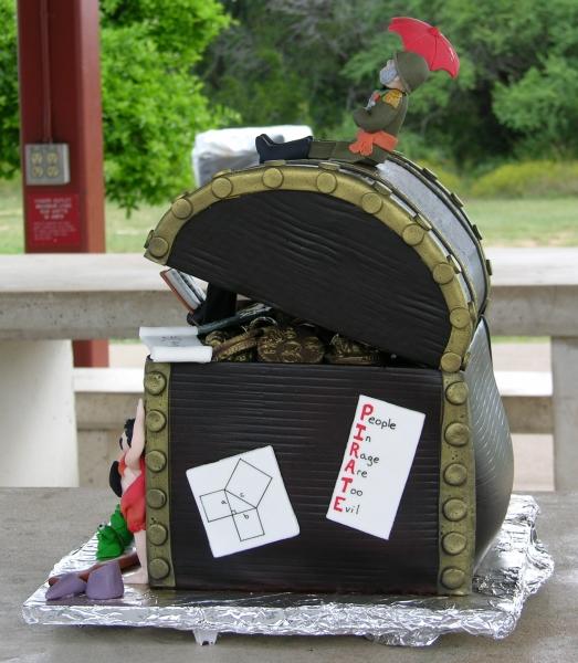 bulging cake