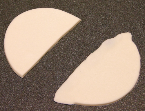 white fondant cut and pressed out