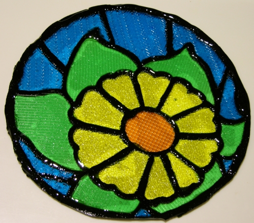 Finished DecoGel stained glass piece.