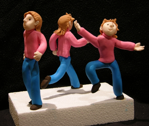 fondant figures moving