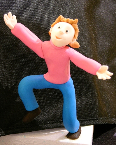 jumper fondant figure