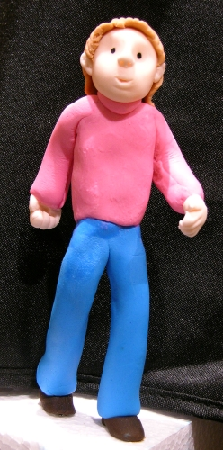 walking fondant figure