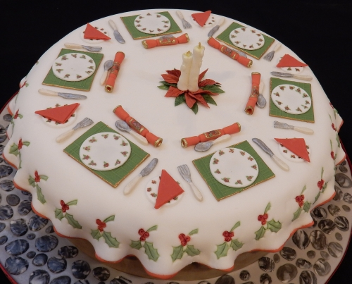 Christmas table cake