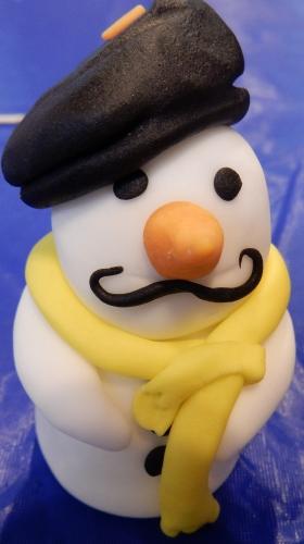 sugarpaste snowman