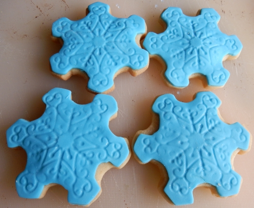 big snowflake cookies
