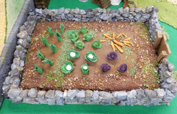 Jack and the Beanstalk display - garden detail