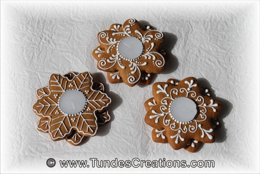 gingerbread candle holders