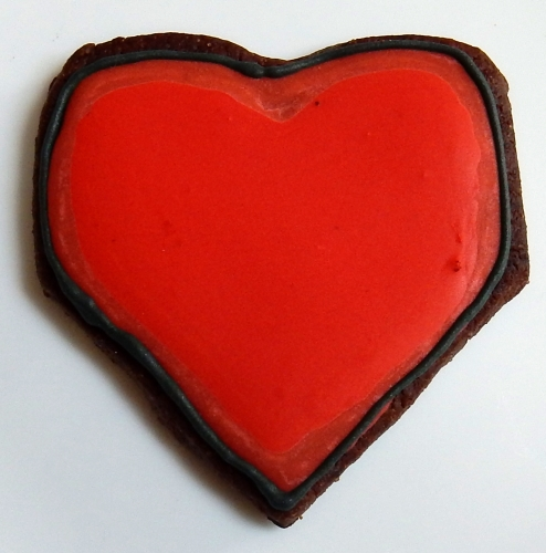 heart logo cookie