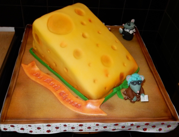cheese shaped cake
