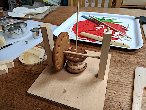 comparing wooden and cookie models